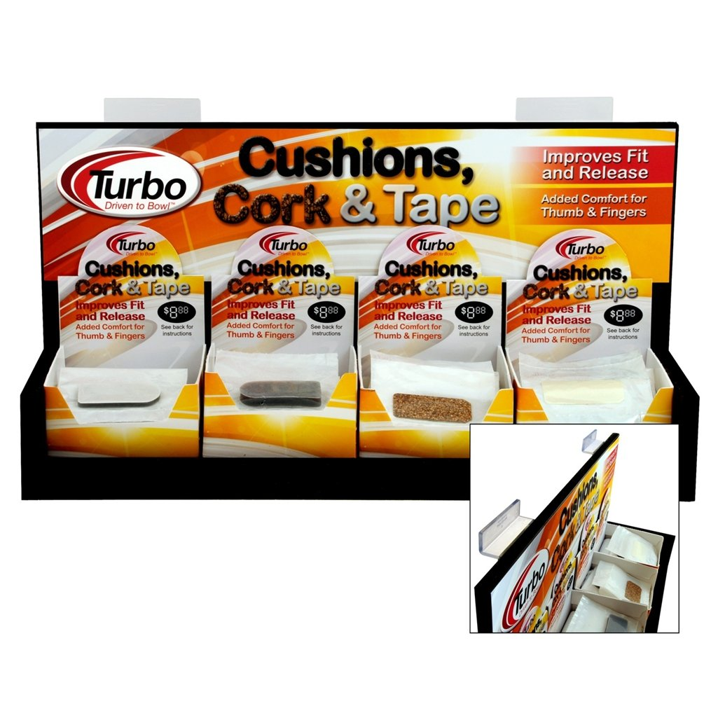 Turbo Shur Hook Cork Tape Box- 40 Count by Bowlerstore Products