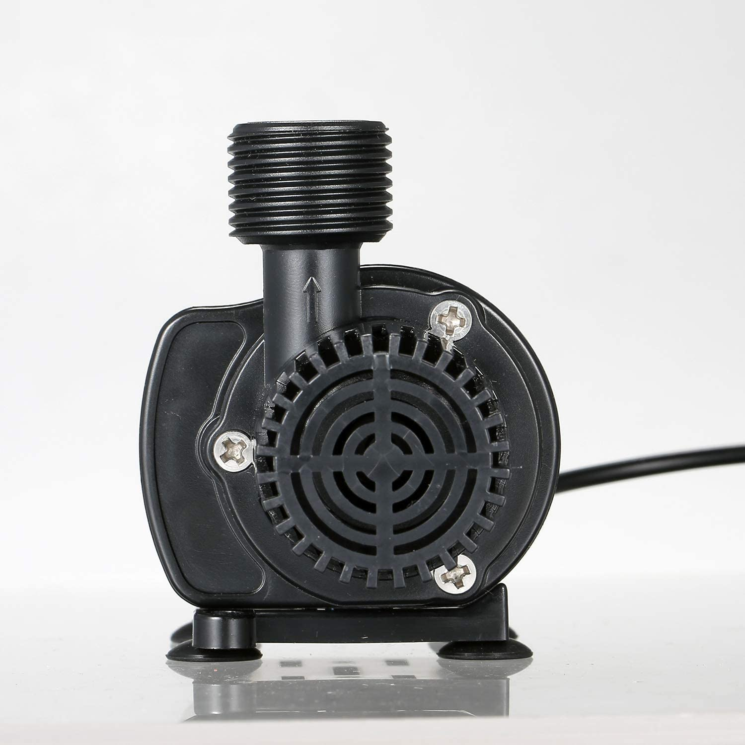 Decdeal Water Pump with Strainer Ultra-quiet DC12V Micro Brushless Water Oil Pump Waterproof Submersible Fountain Pump Aquarium Pond Circulating 500L//H 4W Lift 5.9ft