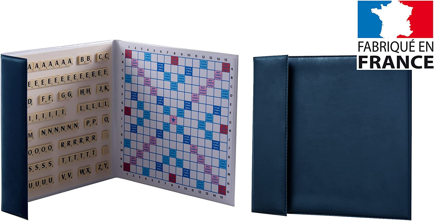 Scrabble magnétique format voyage / de poche Made in France (Bleu): Amazon.es: Juguetes y juegos