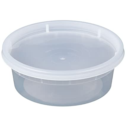 Amazoncom Microwavable Translucent Plastic Deli Container With Lid