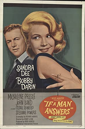 if a man answers 1962 authentic 27 x 41 original movie poster fine