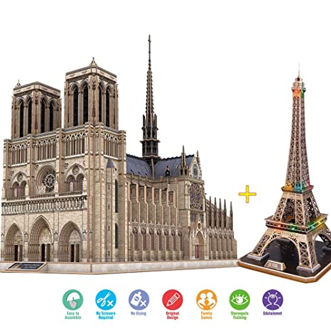 AMAZOIN 3D Architectural Model Suite Adult Puzzle Challenge, Hobby