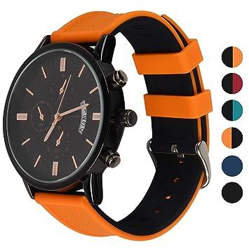 Fullmosa Correa de Reloj de Silicona para Samsung Gear S3 Classic/Frontier/Galaxy 46mm, Rainbow Correa de Reloj de Repuesto para Huawei Watch 2 ...