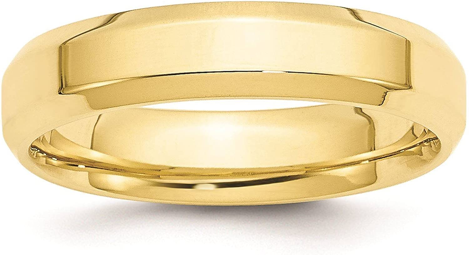 10k Yellow Gold 5mm Engravable Standard Comfort Fit Band