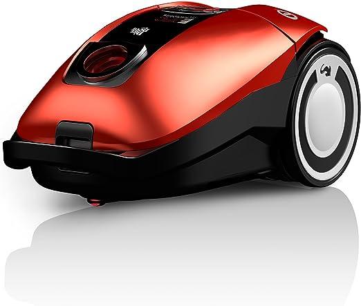 Dirt Devil Rebel 75 HFC-Aspirador con Bolsa, Eco, 3.2 litros, 80 Decibelios, Rojo: Amazon.es: Hogar
