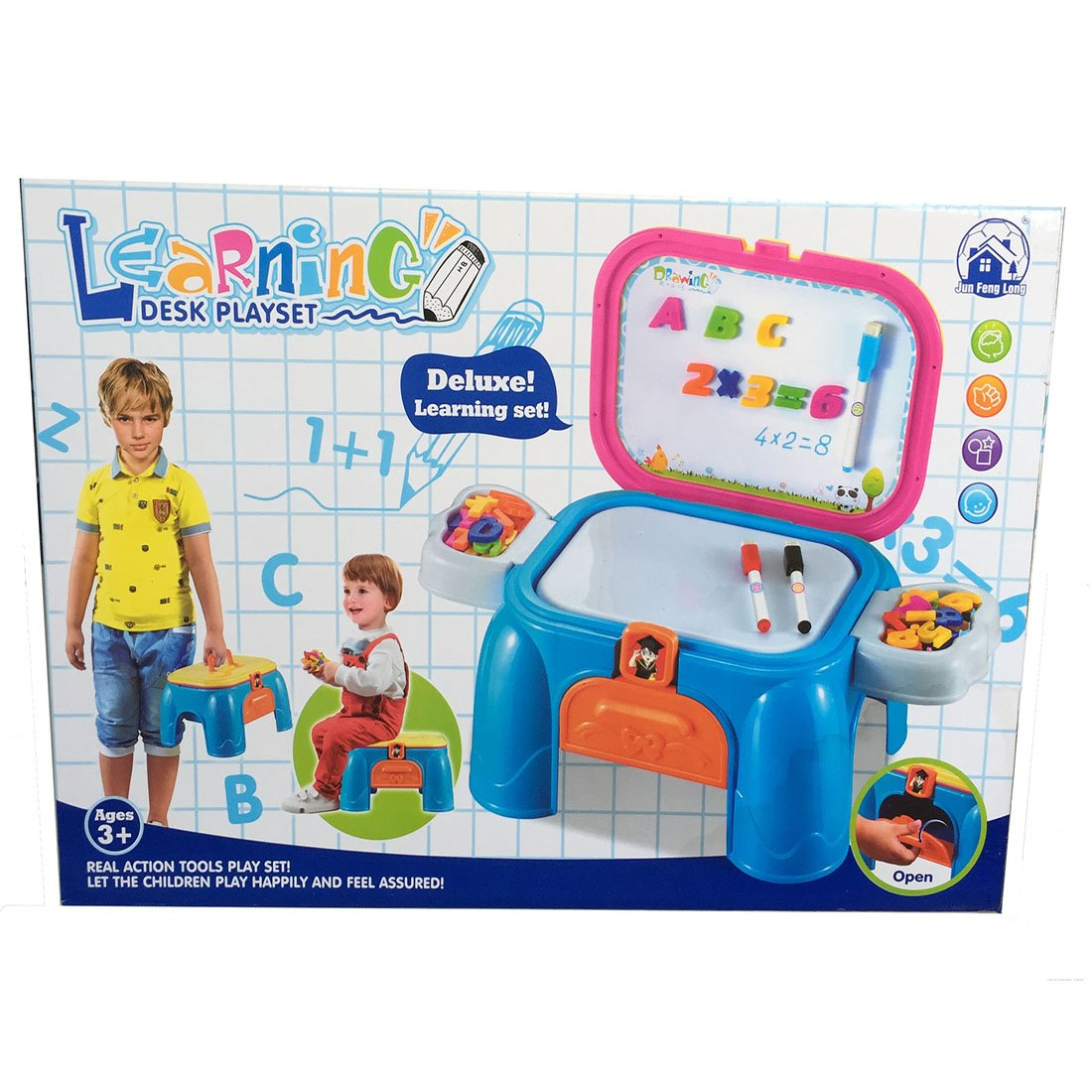 Buy Deluxe Learning Desk Play Set For Drawing And Resources Charger Fenglong Kids Education Online At Low Prices In India