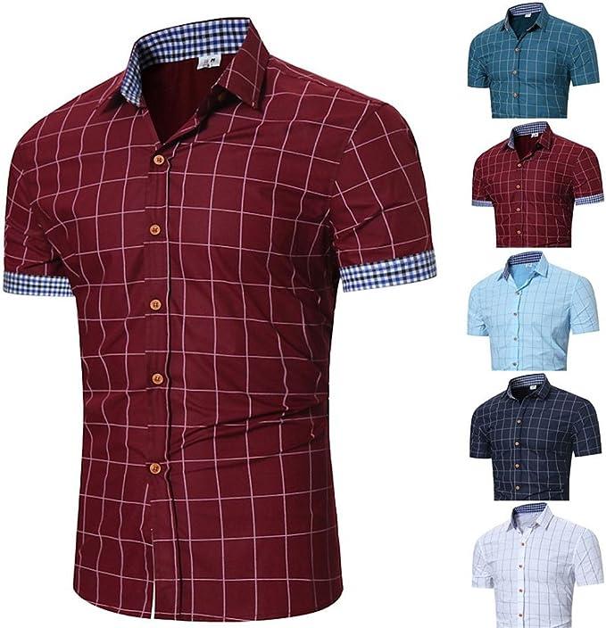 Kword – Camiseta de Hombre Elegante, Manga Larga, Camisa de ...
