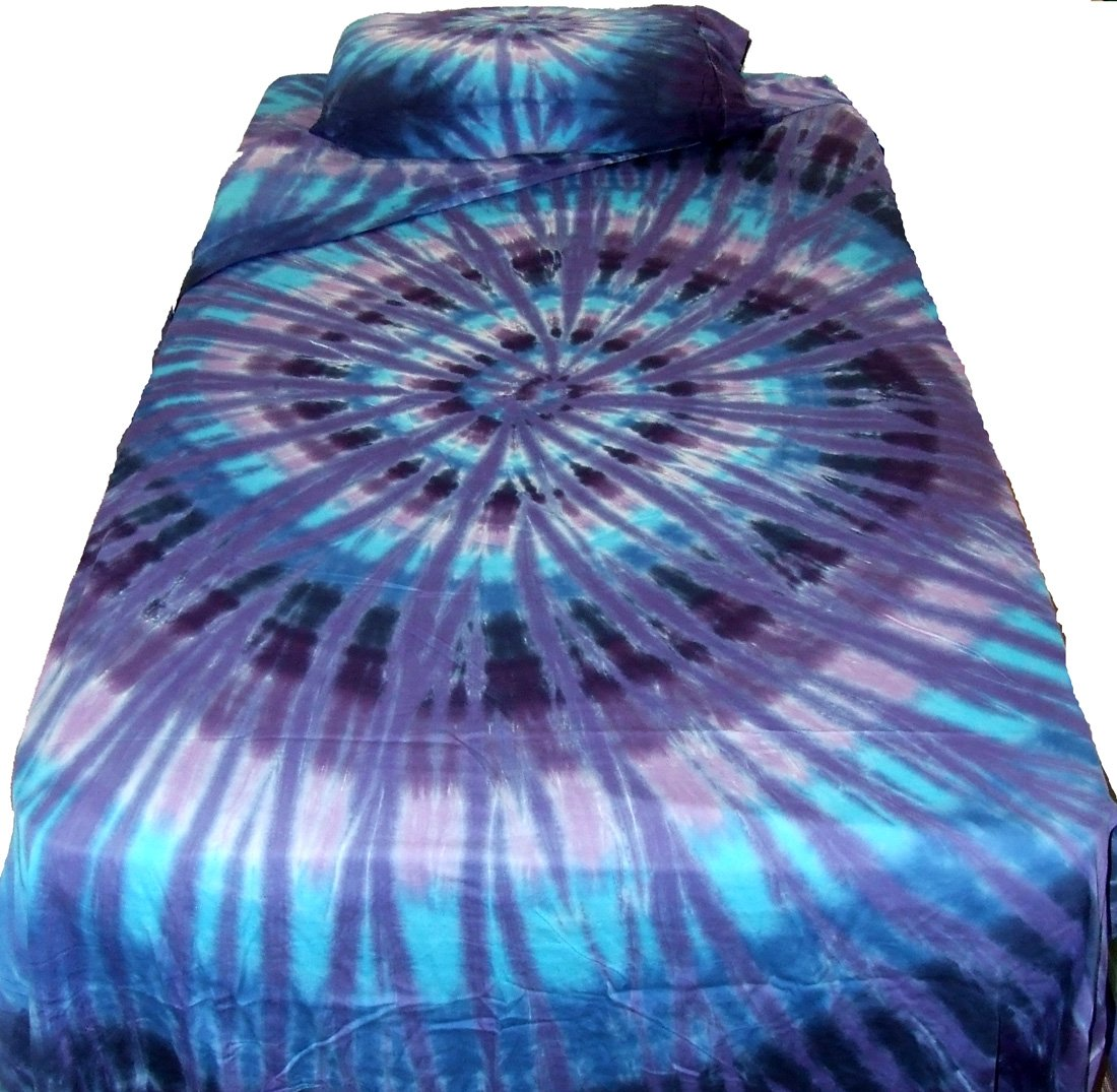 Twilight Spiral Tie Dye Sheet Set - Queen by Tie Dyed Shop