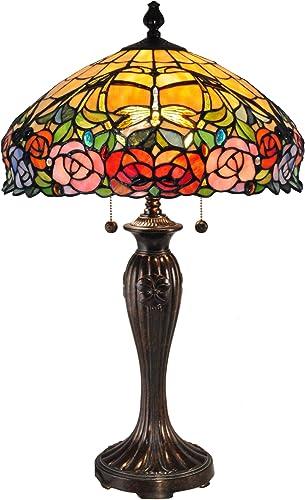 Dale Tiffany TT15097 Zenia Rose Tiffany Table Lamp