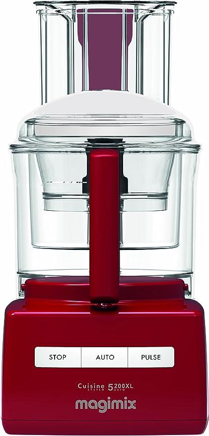 Magimix CS 5200 XL 1100W 3.6L Rojo - Robot de cocina (3,6 L, Rojo ...