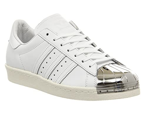 adidas - Zapatillas para hombre blanco White White Silver Metal Toe Exclusive: Amazon.es: Zapatos y complementos