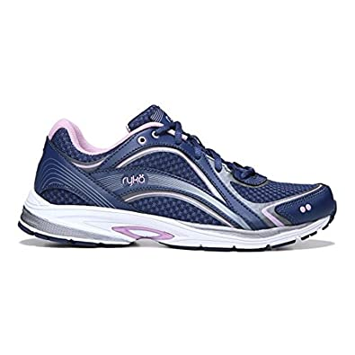Ryka Women's Sky Walk Walking Shoes Navy / Lilac 6 / W and HDO Workout  Headband