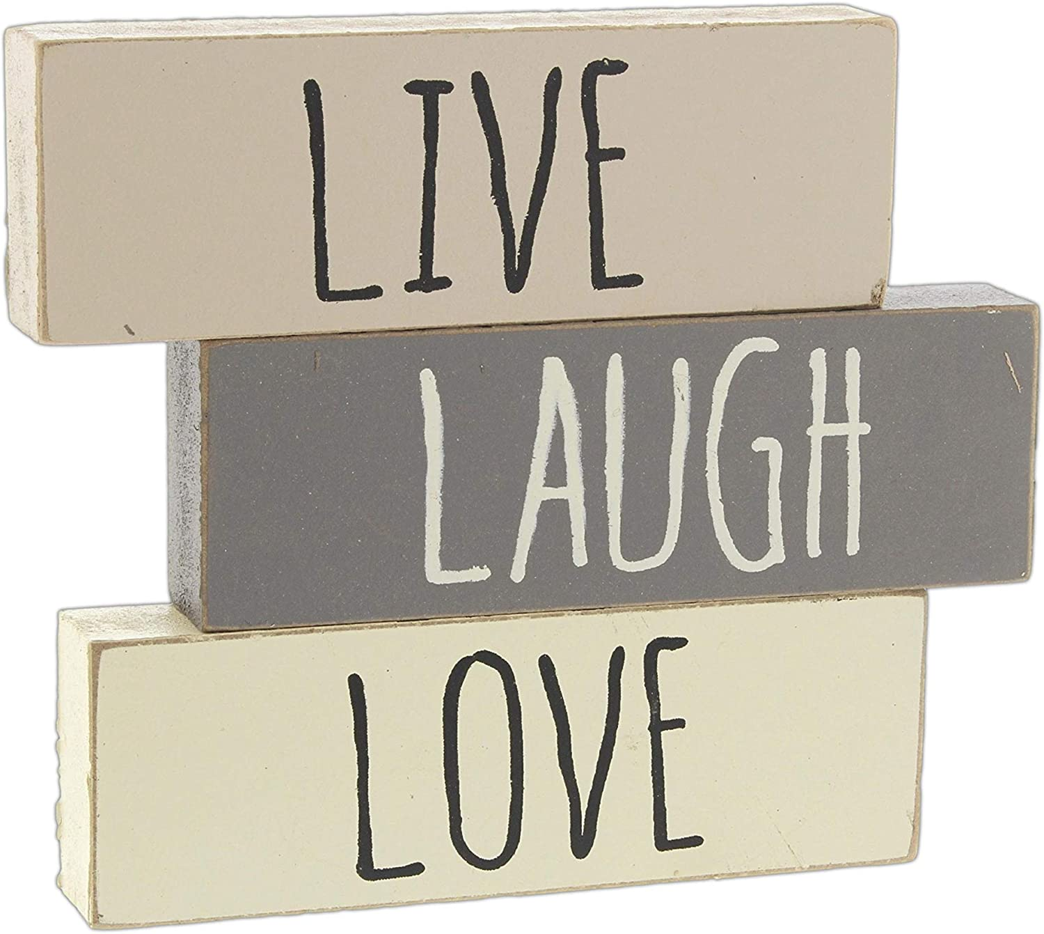 Amazon Com Hearthside Live Laugh Love Set Of 3 Inspirational Wood Block Signs Home Kitchen,Optimize Iphone Storage Photos Not Downloading