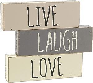 Hearthside 'Live Laugh Love' Set of 3 Inspirational Wood Block Signs