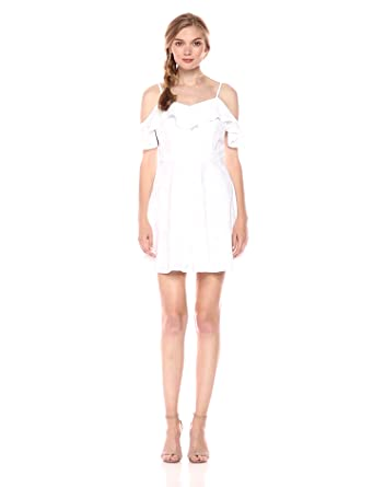 a9843113b4 JOA Women s Cold Shoulder Fit and Flare Lace Dress