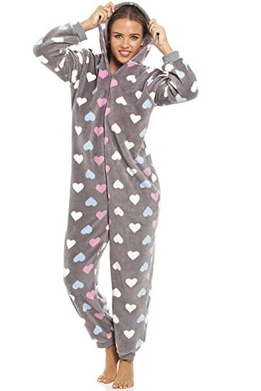 1c8282d83627 Camille Womens Ladies Multi Coloured Heart Print Supersoft Grey ...