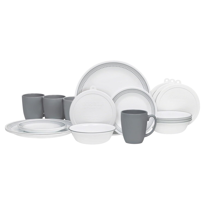 Corelle 20 PieceSouth Beach Livingware Dinnerware Set, White 1123912