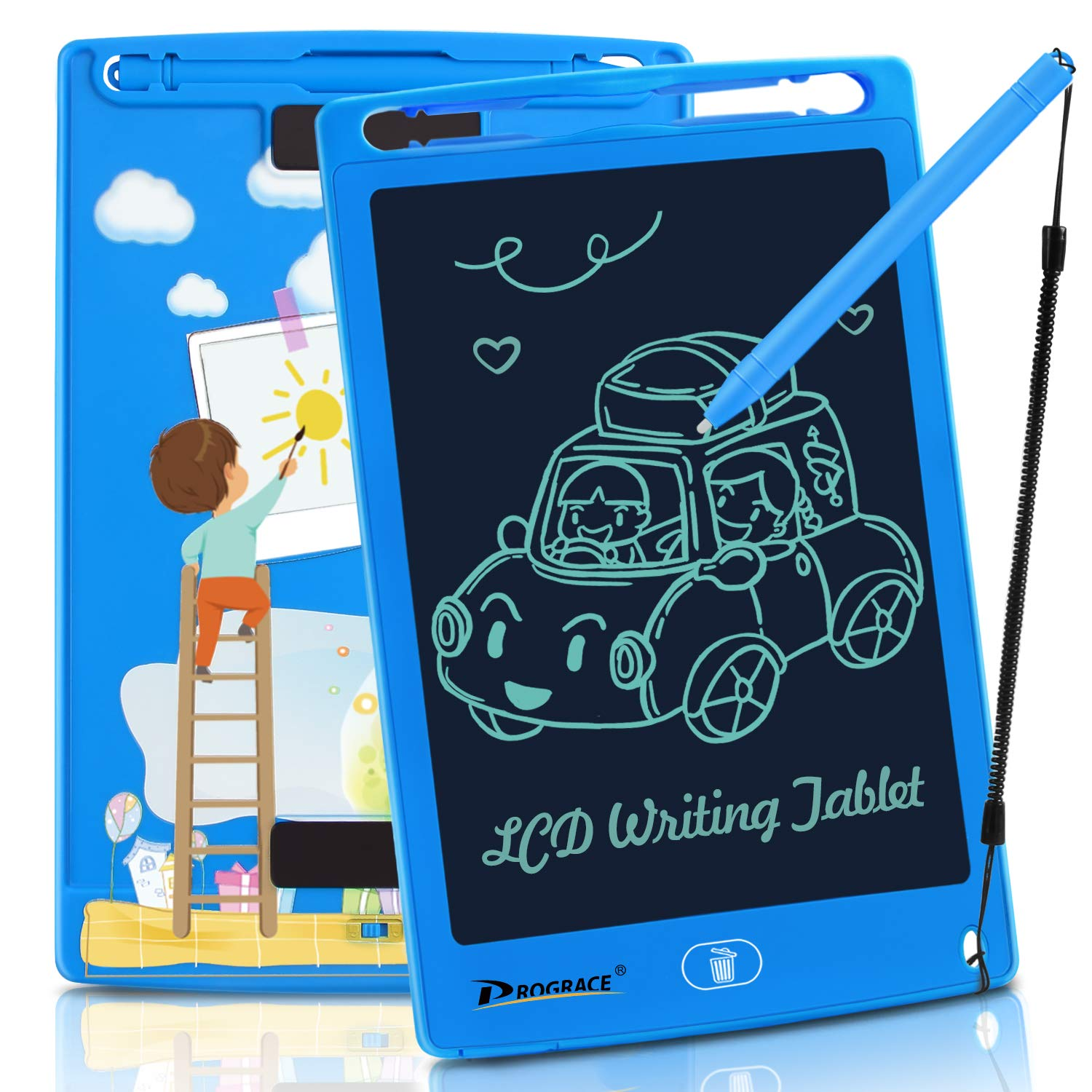 """PROGRACE LCD Writing Tablet for Kids Learning Writing Board Magnetic Erase LCD Writing Pad Smart Doodle Drawing Board for Home School Office Portable Electronic Digital Handwriting Pad 8.5"""""""