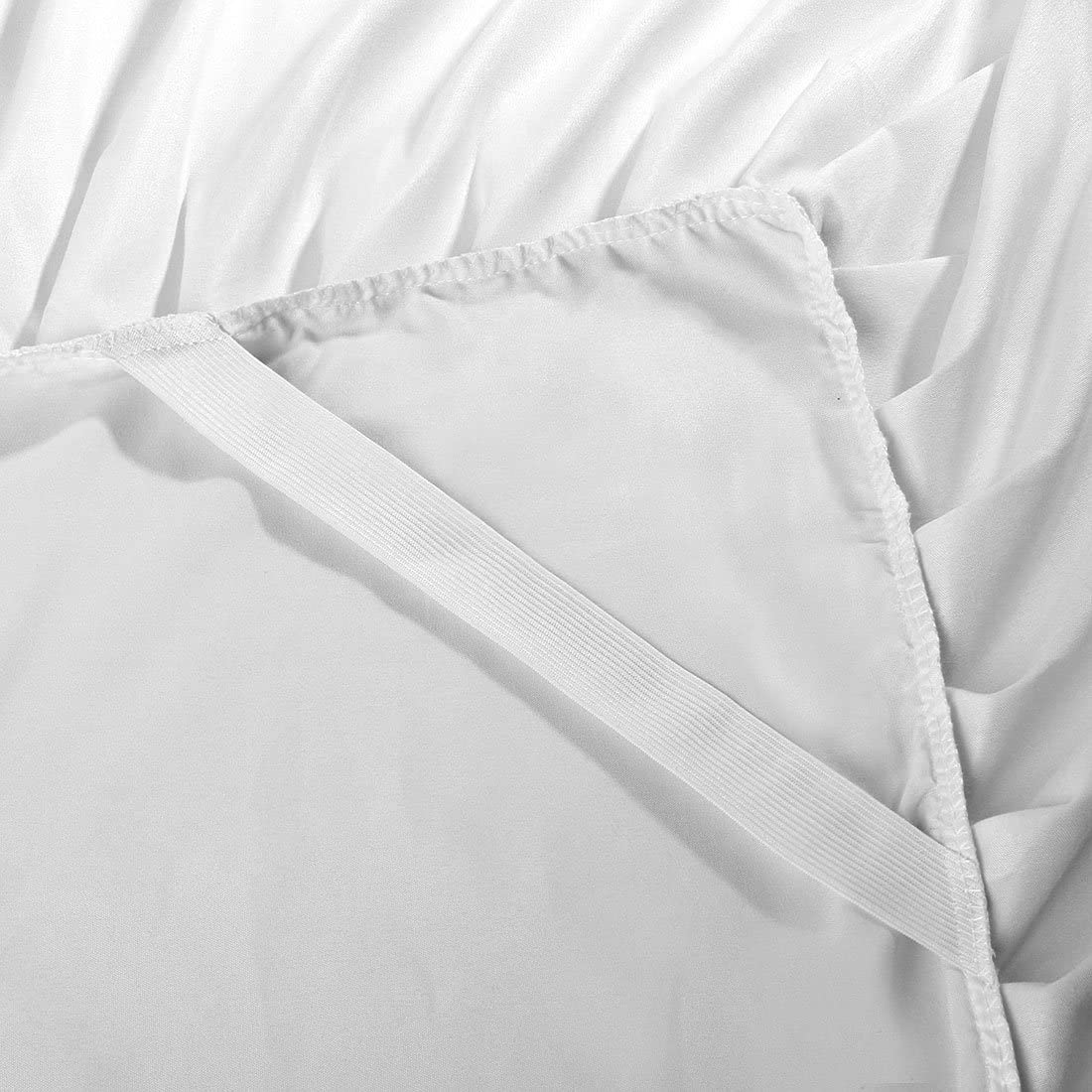 uxcell Bed Skirt Brushed Polyester Pleated Styling with 14 Inch Drop Beige Full Size