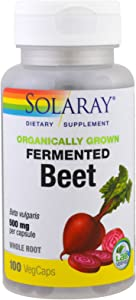 Solaray Organically Grown Fermented Beet Root Root Organic, Veg Cap (Btl-Plastic) 500mg | 100ct