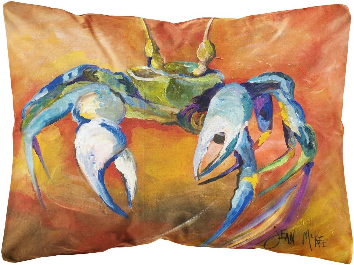 Caroline's Treasures JMK1110PW1216 Blue Crab Canvas Fabric Decorative Pillow