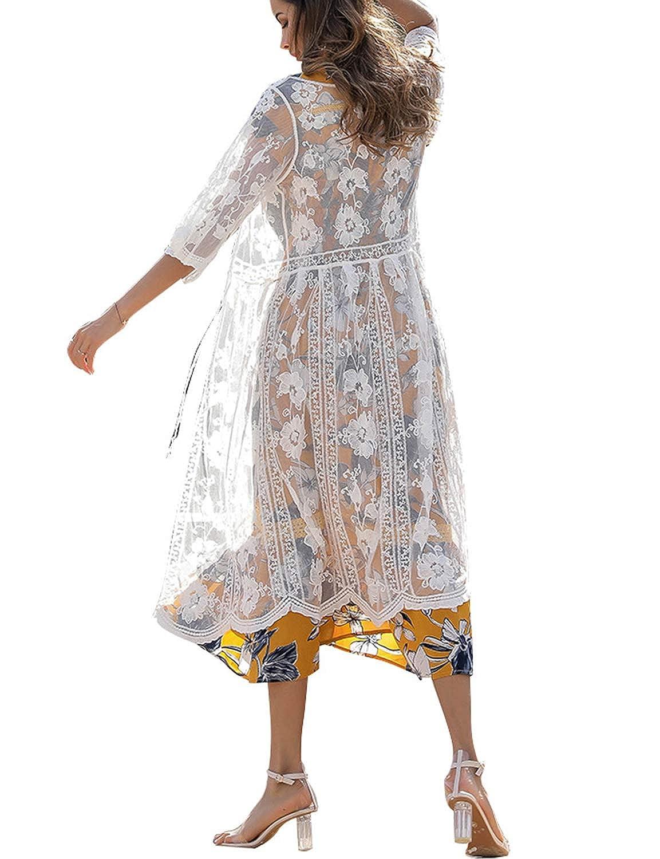 YYC Bohemian Swimwear Beach Dress Kimono Bathing Swimsuit Cover Ups for Women