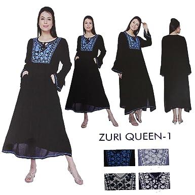 5b0efb7fc9 Miss Trendy Women Indian Pakistani Designer Embroidery Kurta Kurti Tunic  Top Dress Zuriqueen (Grey -