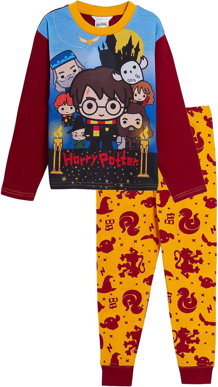 Harry Potter - Pijama completo para niños y niñas, diseño de Gryffindor, Hogwarts
