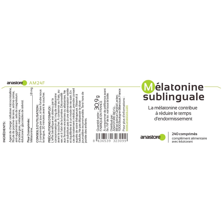 MELATONINA SUBLINGUAL | Pureza garantizada superior al 99% | 1.8 mg / 120 dosis | Estevia (Aroma de cereza) | Regulador del reloj biológico | Trastorno del ...