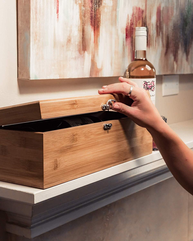 CASE ELEGANCE Caja de Madera de Regalo para Botellas y Juego de Utensilios para Amantes del Vino