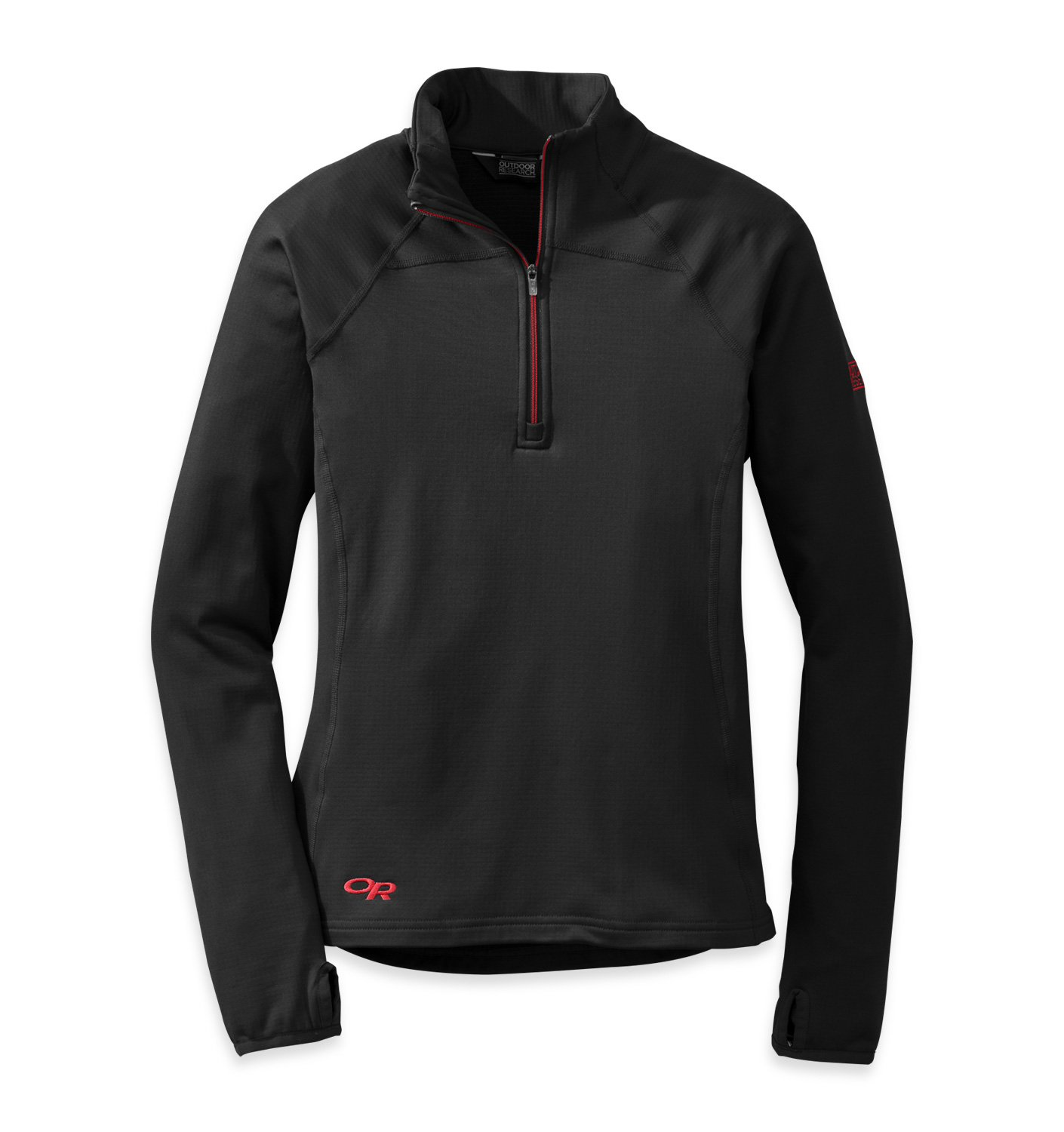 Outdoor Research Women's Radiant LT Zip Top, Black/Flame, Small by Outdoor Research