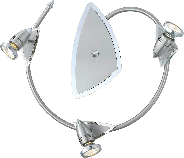 EGLO 20609A Wave LED Track Light 17 x 16.13 x 5.5 Chrome