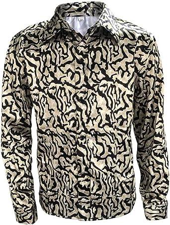 Tinyones Mens Tiger King Shirt Costume Joe Exotic Shirt Halloween Cosplay