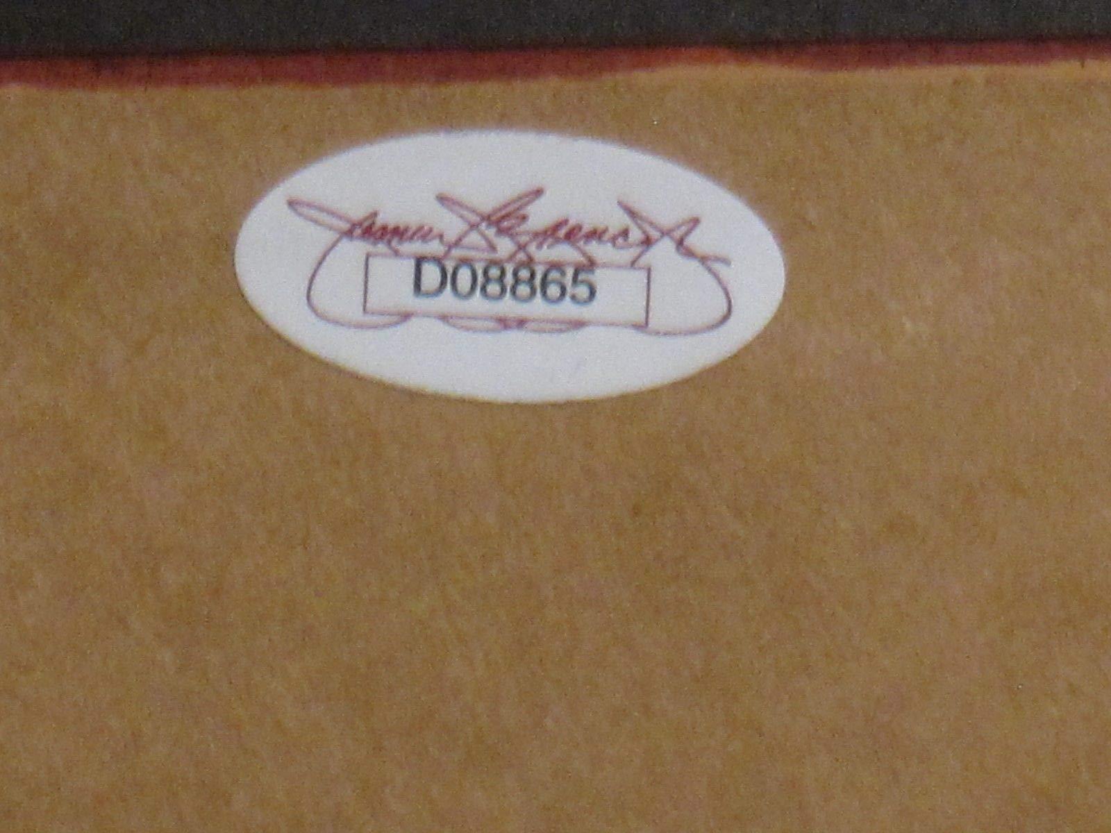 Hank Aaron Hof Autographed Signed Check Framed 8x10 Photo & Hr Game Tickets JSA