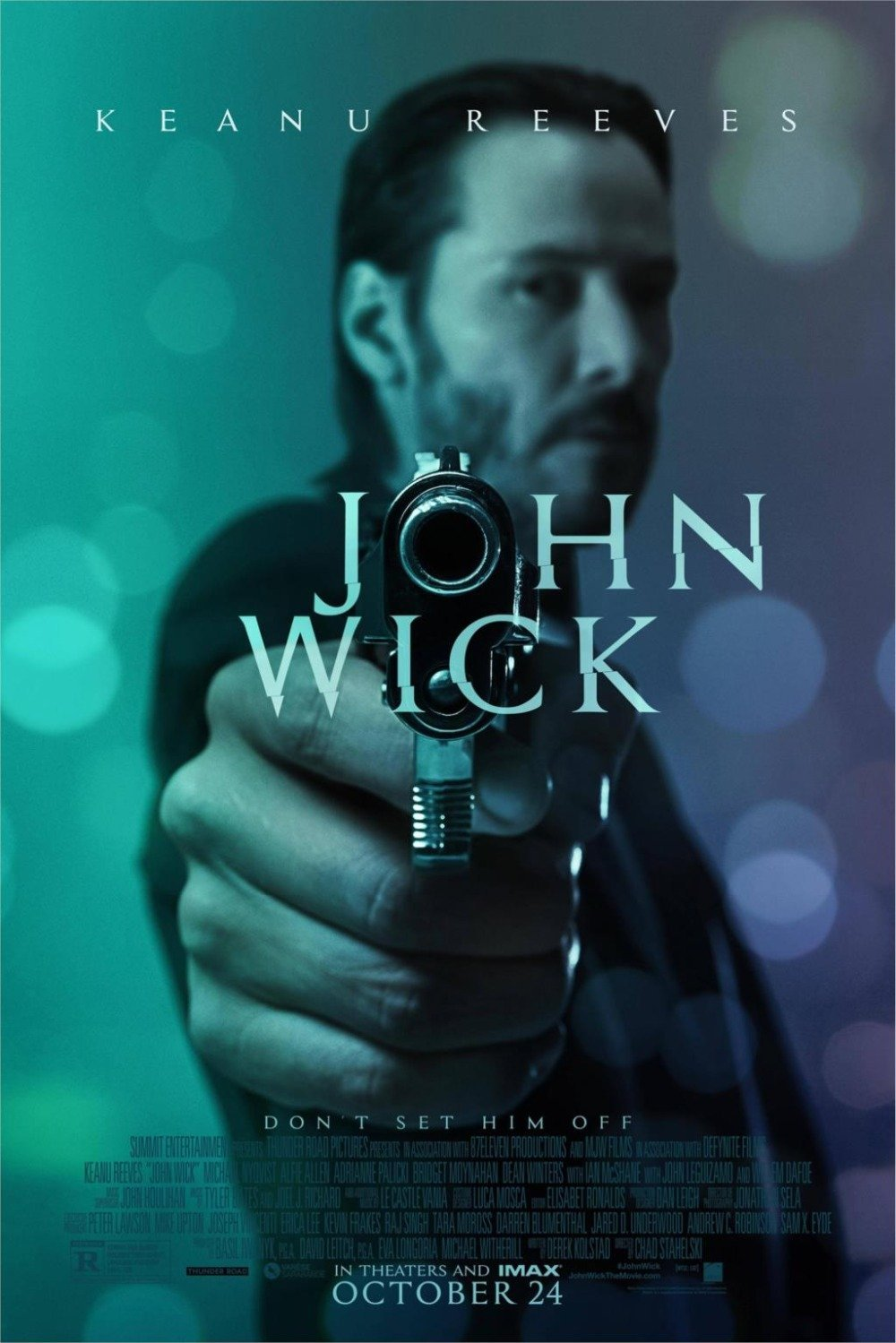 makeuseof John wick Movie Classic Poster Home Decoration Silk Wall Poster -High quality Picture Keanu Reeves-Silk Poster 24x36inch