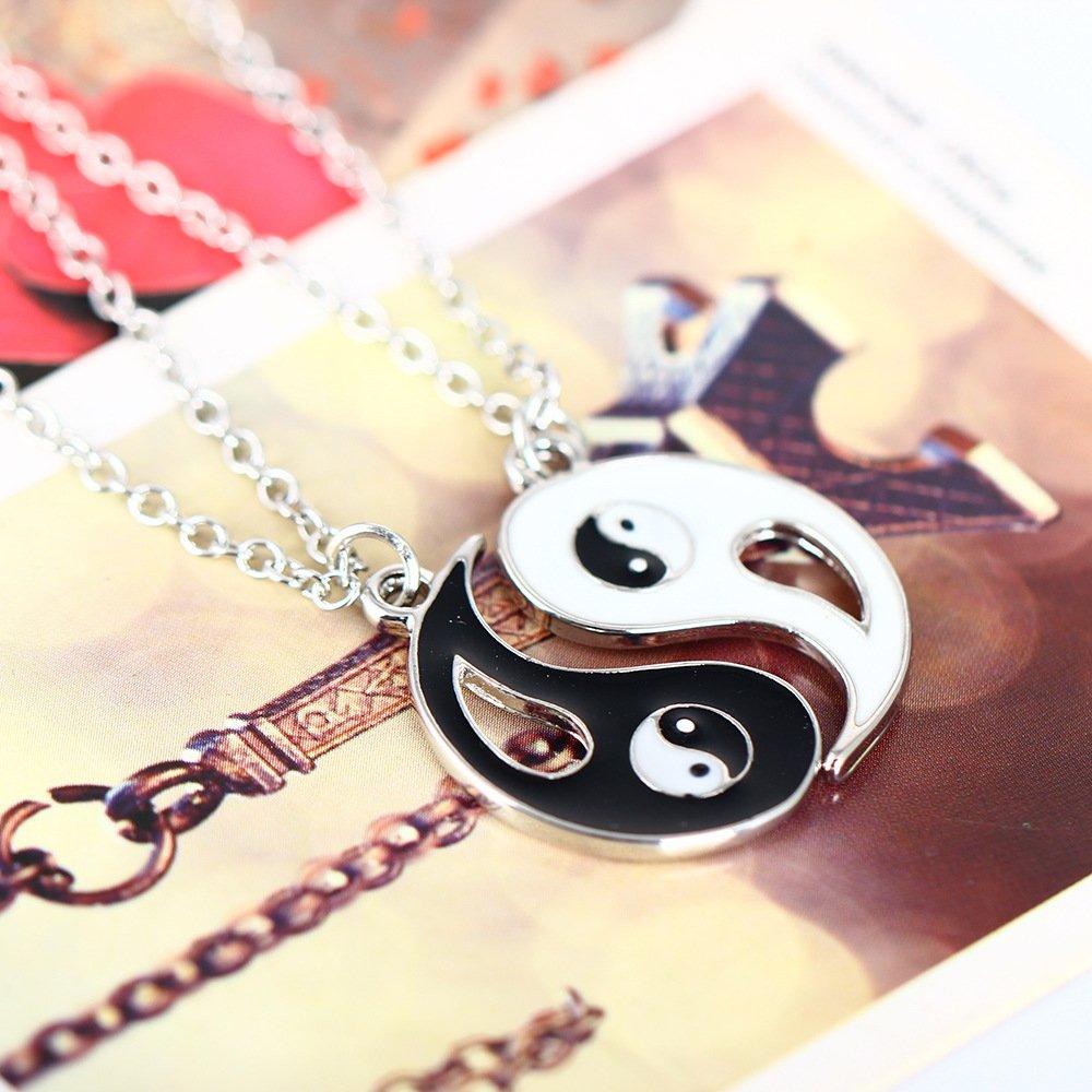 Bason Collar Ying Yang Jewelry Puzzle Colgante En Diseno Yin Yang