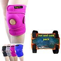 BodyMoves Kid's Knee Brace Support Plus Hot and Cold Ice gel Pack for stabilizing...