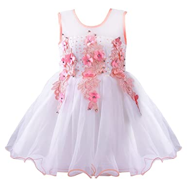4963a57e5 Wish Karo Baby Girls Net Frock Dress - (bx53blu)  Amazon.in ...