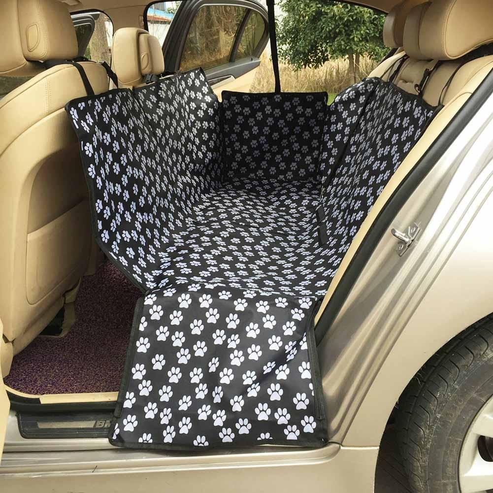 Everpert Pet Dog Waterproof Oxford Fabric Rear Seat Cover Back Seat Predector Mat Hammock with Safety Belt