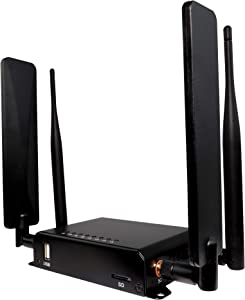 4g LTE+ Advanced OpenWRT Cat6 Unlocked Sim Router Modem with Carrier Aggregation Preconfigured for use on The T-Mobile Network & Compatible with AT&T