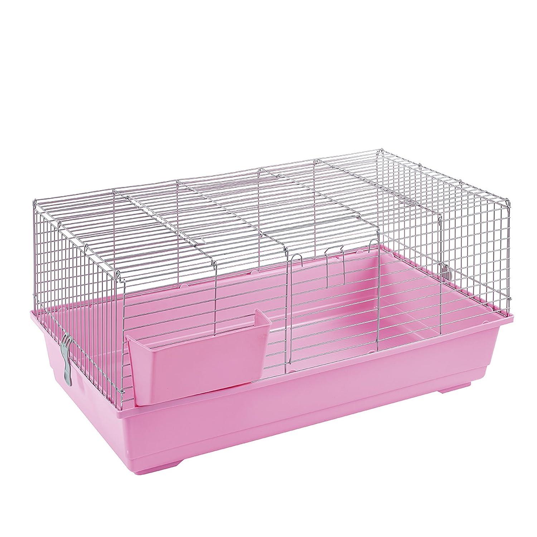 ritzo Kaninchen Meerschweinchen Pink Käfig: Amazon.de: Haustier