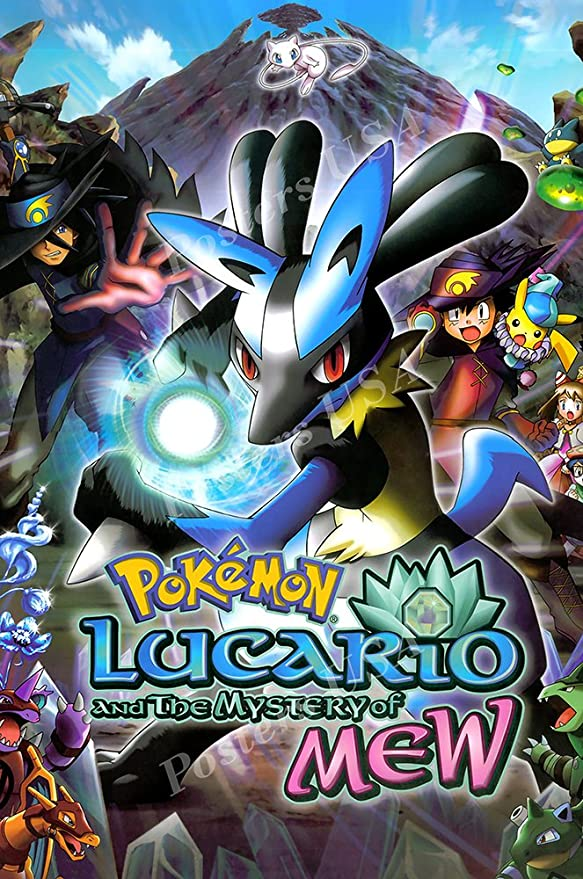Amazon Com Posters Usa Pokemon Lucario And The Mystery Of Mew