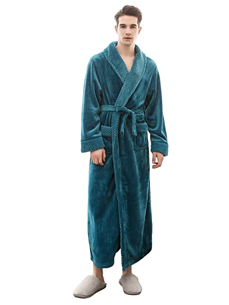 cheapest shop for authentic half price H HIAMIGOS Luxury Soft Plush Towelling Robe Dressing Gown