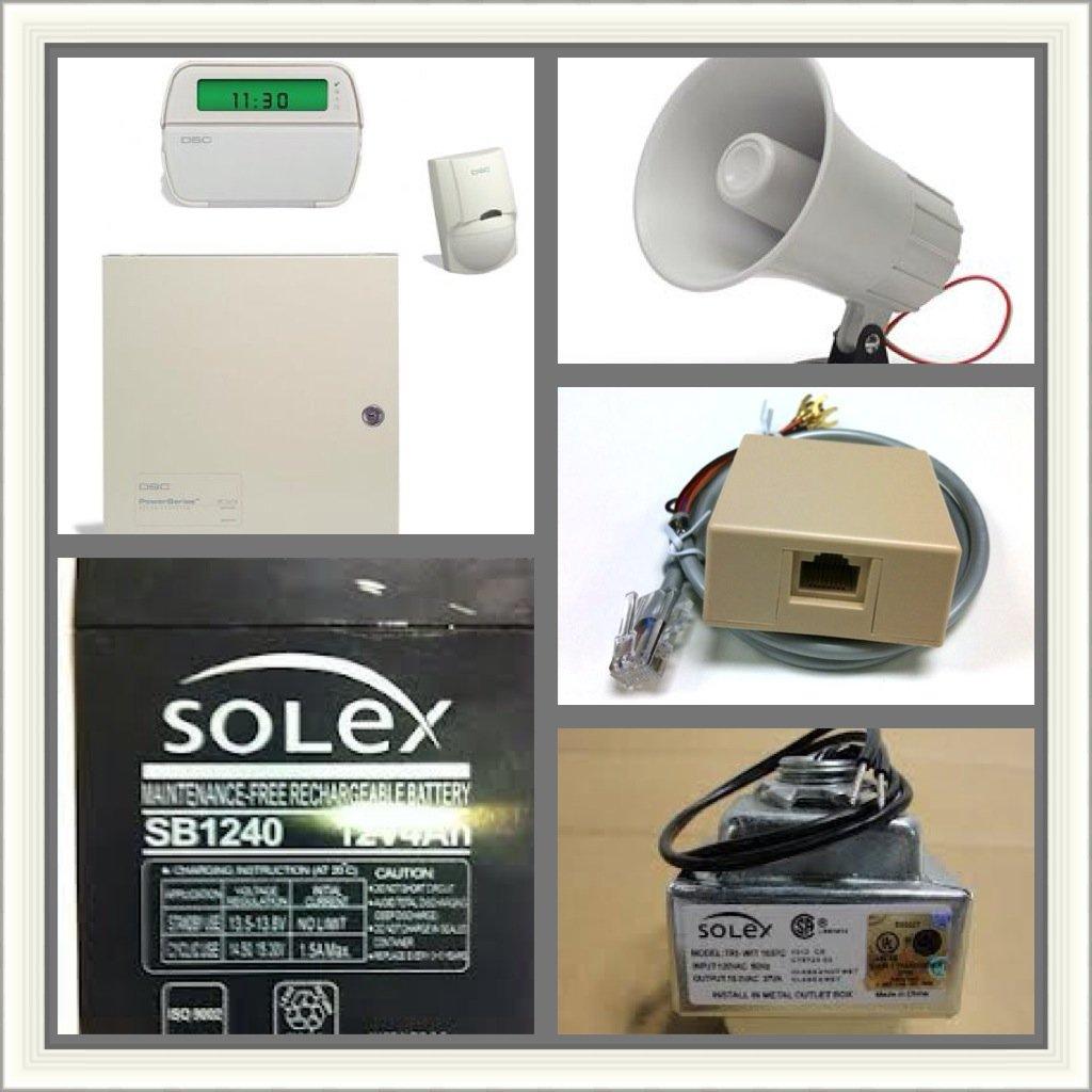 Dsc Alarm Sytem Sarter Kit Pc1616 Panel with Pk5501 Key Pad ...