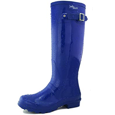 956f8722a56a Amazon.com | DailyShoes Women's Knee High Round Toe Rain Boots ...