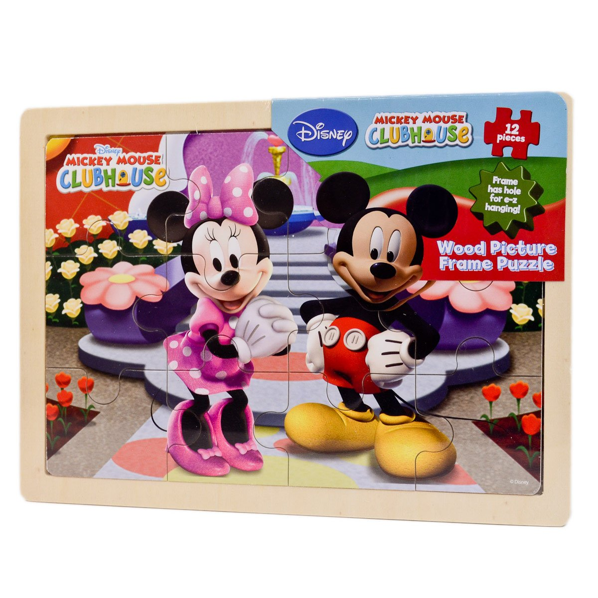 Amazon disney mickey mouse clubhouse wood picture frame amazon disney mickey mouse clubhouse wood picture frame puzzle toys games jeuxipadfo Images