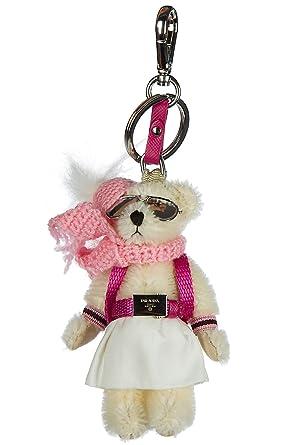 425758f995ac Prada porte-clés femme trick orsetto felice blanc  Amazon.fr ...