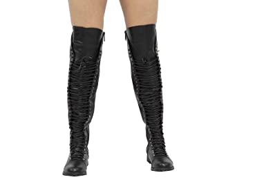 4f374e156f StyleUpGirl Thigh High Lace Up Boot with Military Corset Travis 05 (Black 6)