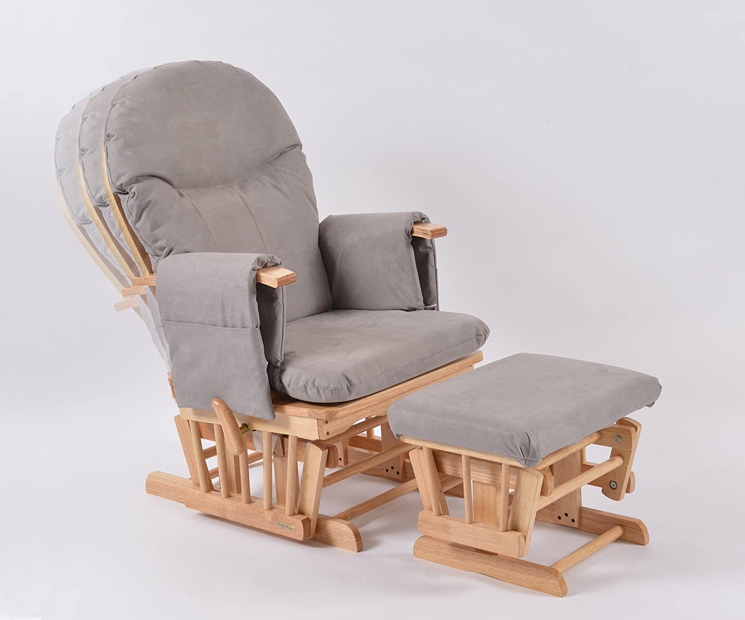 Habebe Glider Rocking Nursing Maternity Breastfeeding Recliner Chair With  Footstool ***WITH WASHABLE COVERS***: Amazon.co.uk: Kitchen U0026 Home