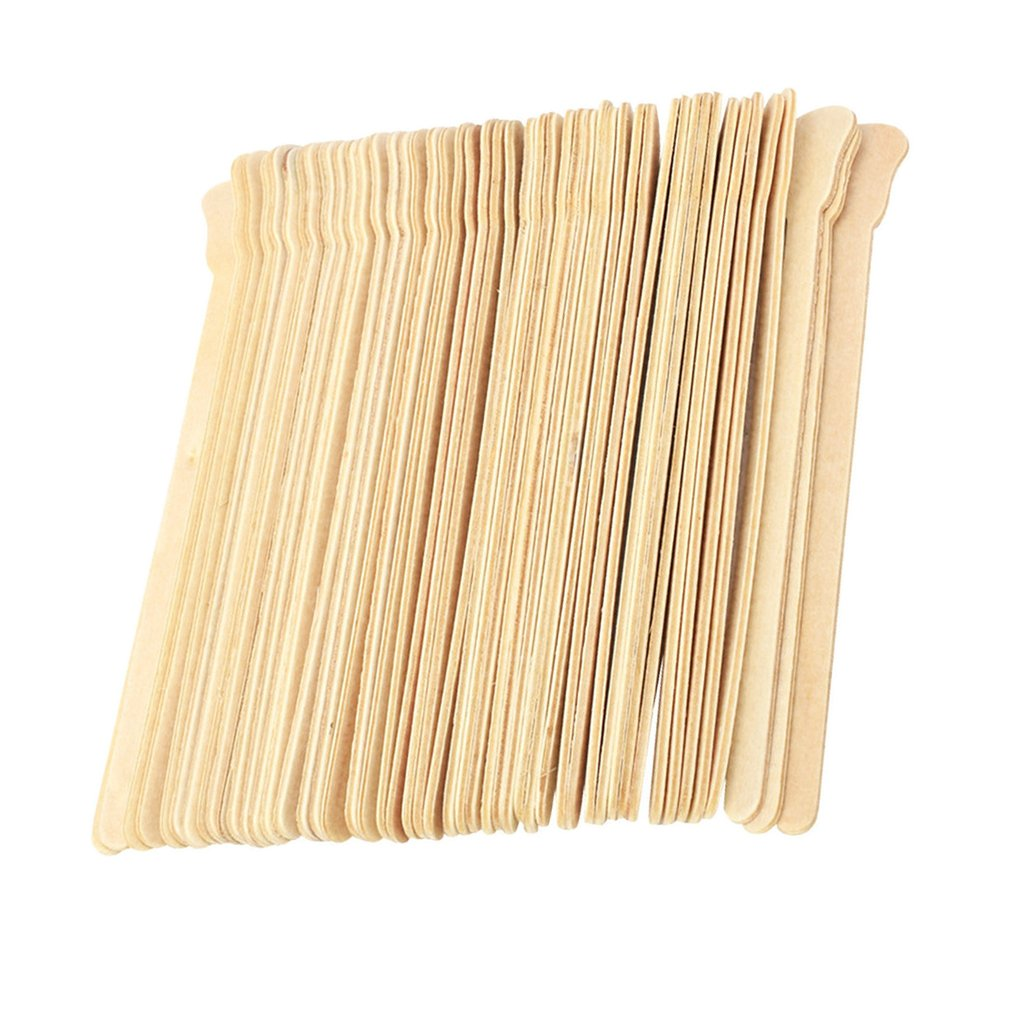 Homyl 100 Pieces Wooden Waxing Applicators Sticks for Face & Eyebrows Wax Spatula Hair Removal